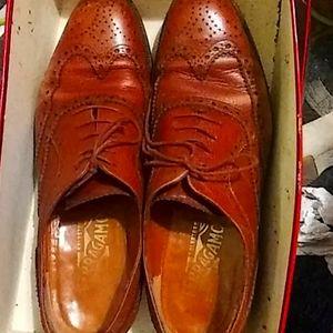 Salvatore ferragamo brown loafers size 7.5